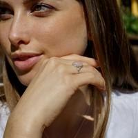 Zilveren ring met Rozenkwarts Priya