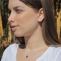 Zilveren oorknopjes Maansteen