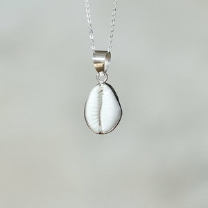 Zilveren hanger Cowrie shell