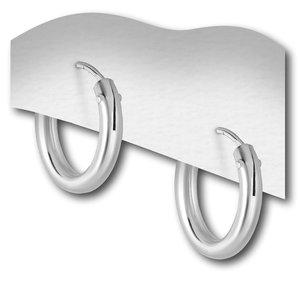 Zilveren oorringen 12 mm