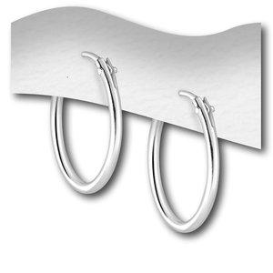 Zilveren oorringen 16 mm
