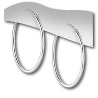 Zilveren oorringen 30 mm