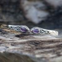 Zilveren edelsteen armband Vanida Amethist