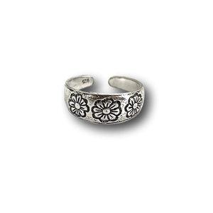 Teenring / vingertop ring 3 flowers