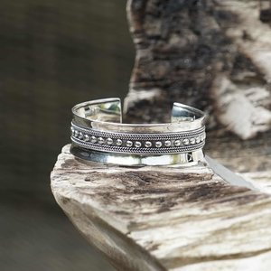 Zilveren armband Bali style