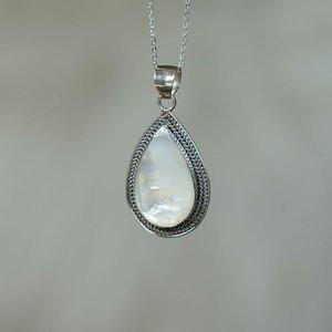 Zilveren Shell hanger drop