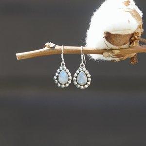 Zilveren Maansteen oorbellen