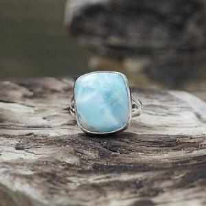 Zilveren ring Larimar Bonita
