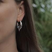 Zilveren oorbellen Mika Blue