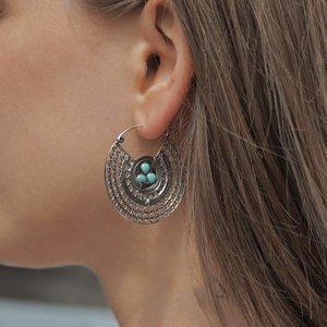 Zilveren oorbellen Alcudia