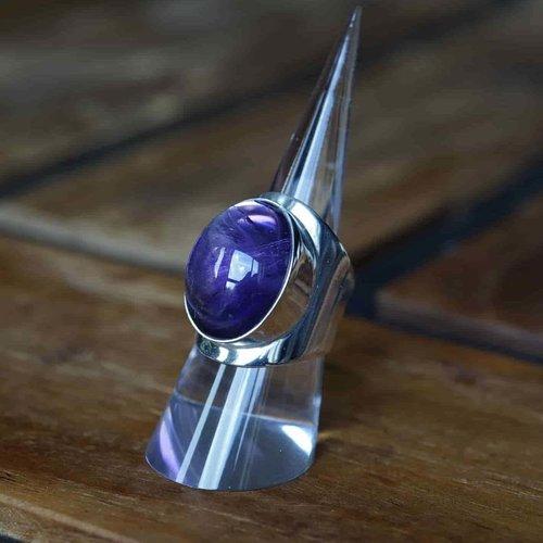 Zilveren ring Amethist Anello