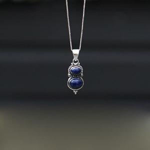 Zilveren hanger Lapis lazuli Bodri