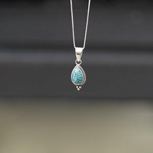 Zilveren hanger Turquoise Ashta