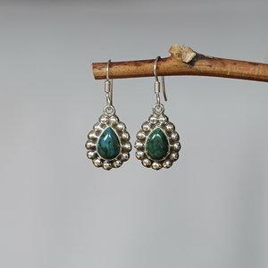 Zilveren Turquoise oorbellen