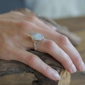 Zilveren ring Maansteen Moyava