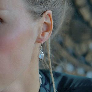 Zilveren oorbellen Maansteen Maevy