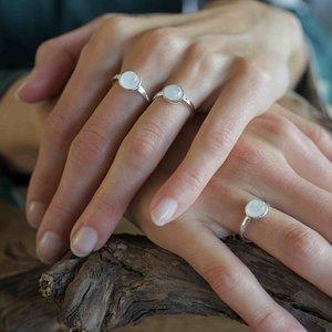 Zilveren ring Maansteen Malorie