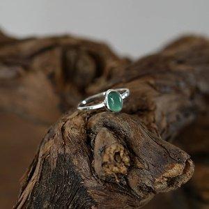 Zilveren edelsteen ring piccola groene Amethist