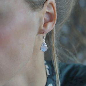 Zilveren oorbellen Maansteen Mahelia