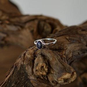 Zilveren edelsteen ring piccola Lapis Lazuli