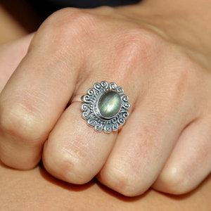 Zilveren ring Labradorite