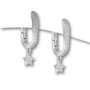 Zilveren oorbellen Sterretje
