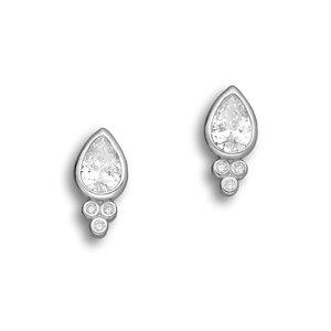 Zilveren oorknopjes Shiny dot