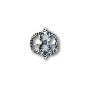 Zilveren ring Maansteen Manilla