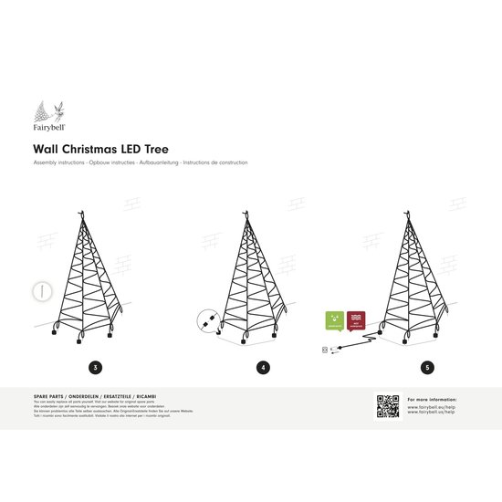 FAIRYBELL Wall 400CM-240LED Warm white