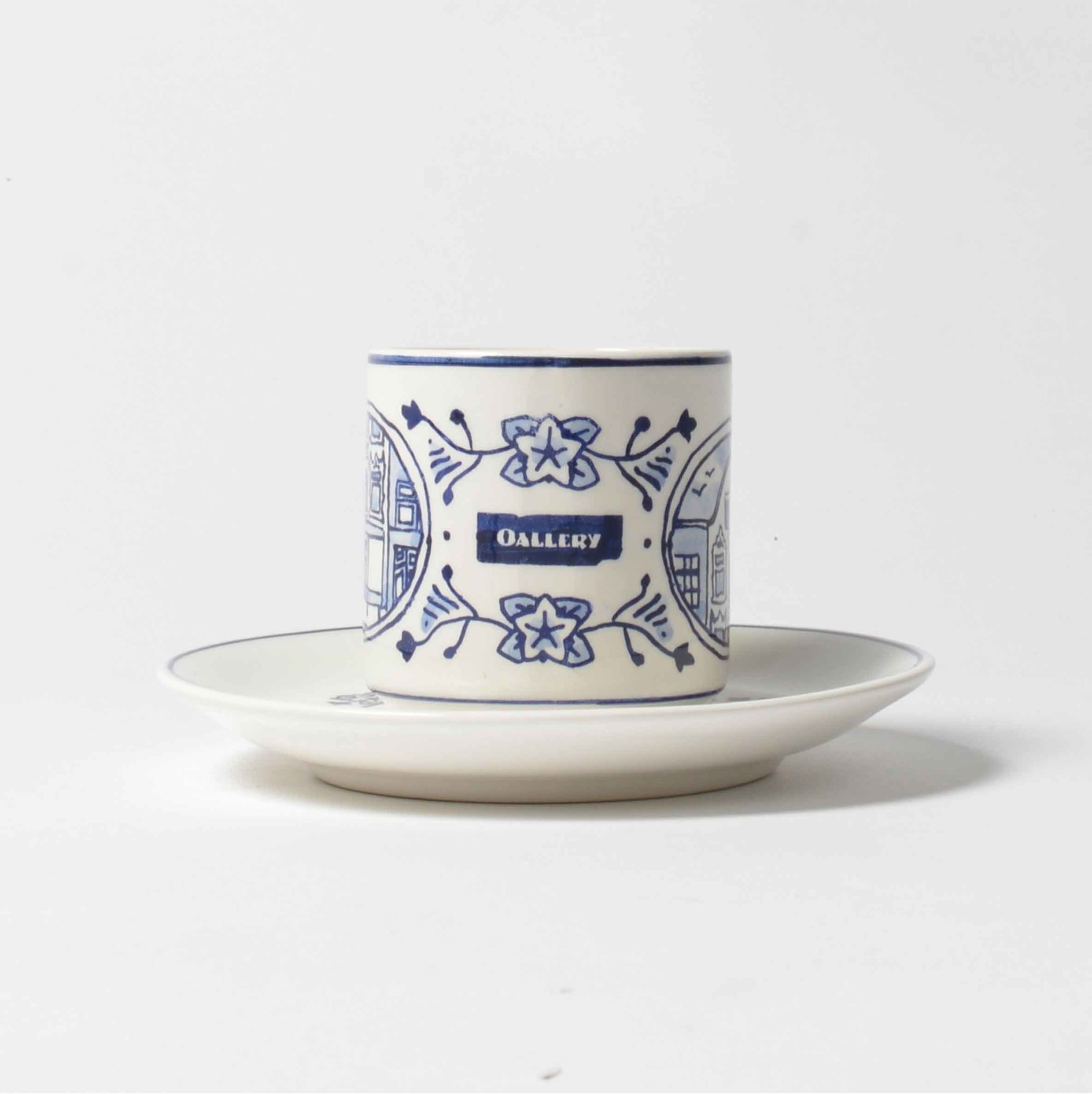 OALLERY delftware hand painted cup & saucer
