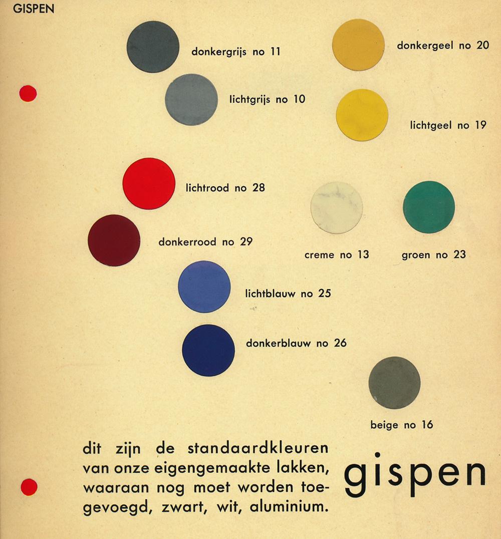 Vintage W.H. Gispen brochure