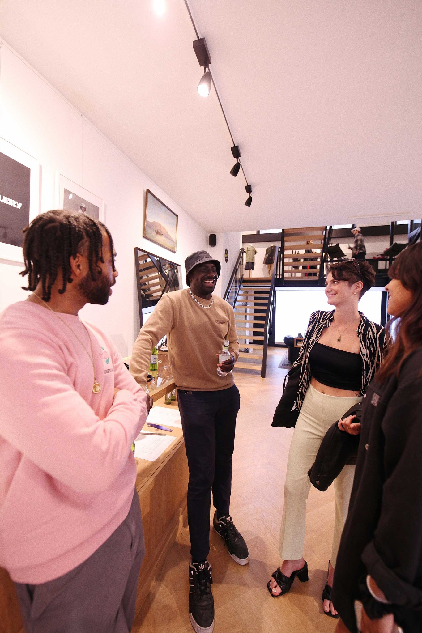Group of people at OALLERY store in Amsterdam