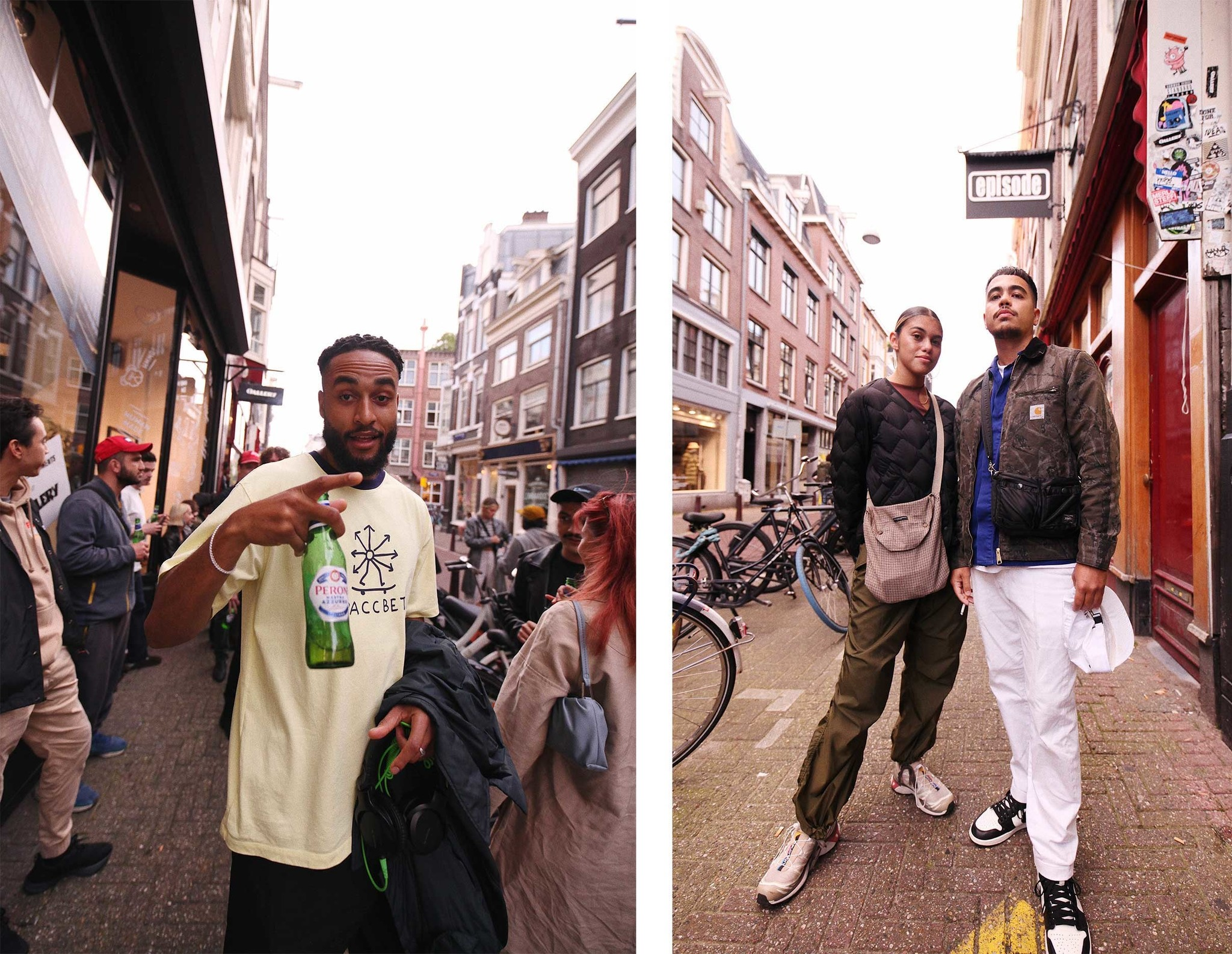 Group of people in front of OALLERY store in Amsterdam