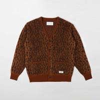 Wacko Maria Leopard Mohair Cardigan