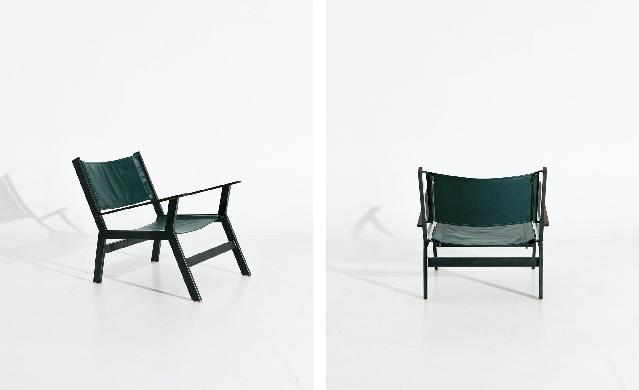 Green designer chair
