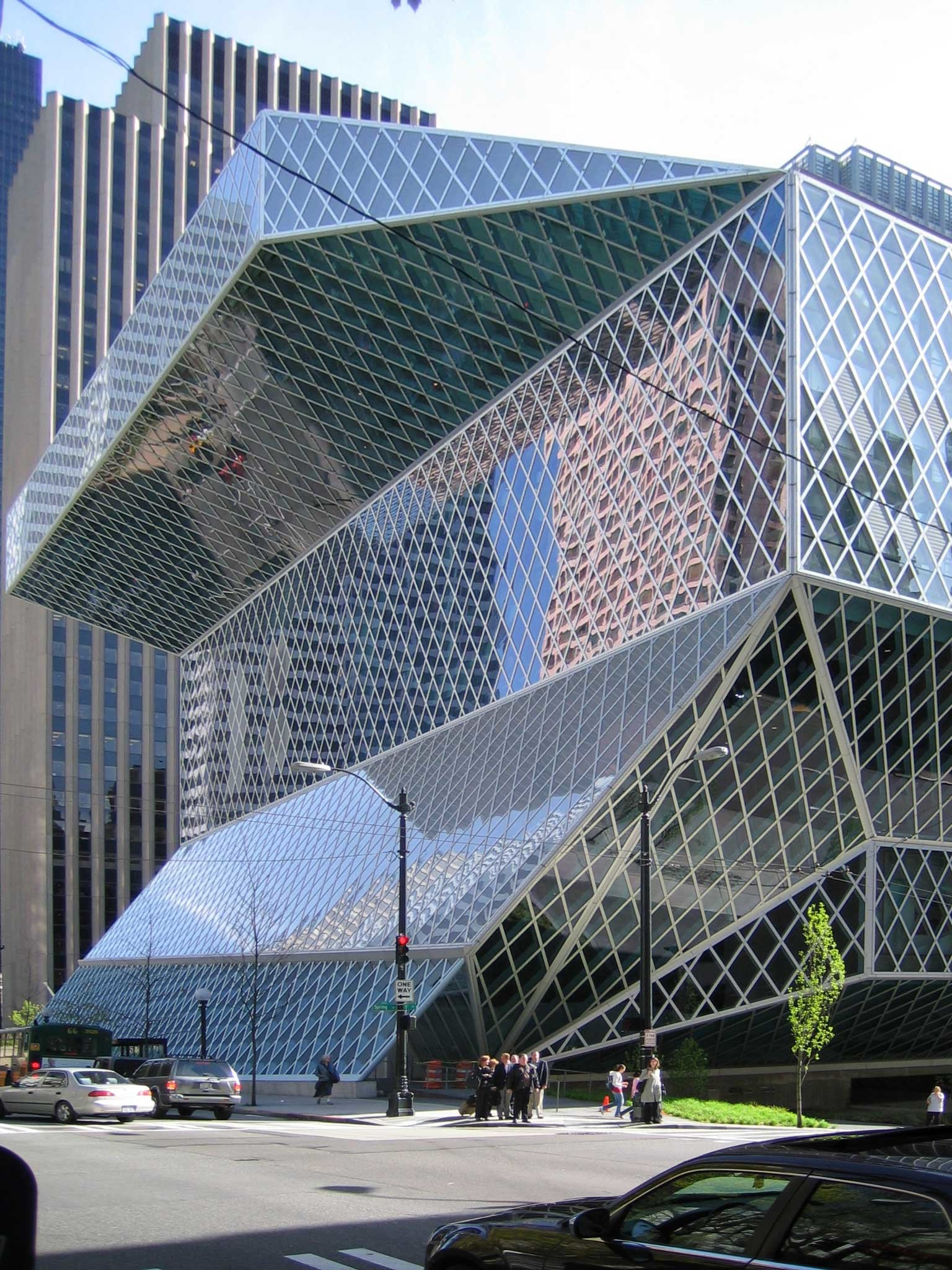 Seattle Central Library building designed by Rem Koolhaas