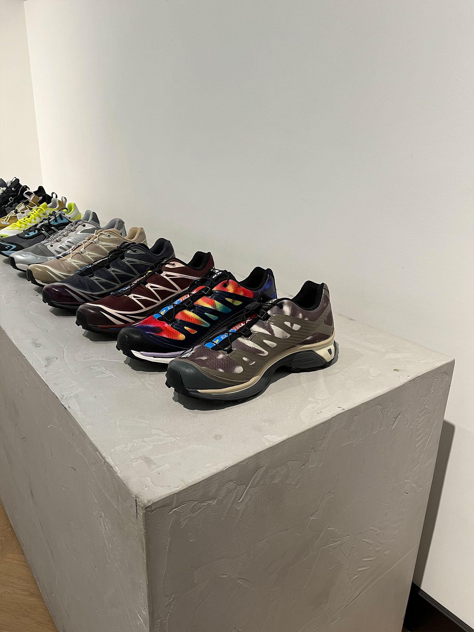 Row of Salomon shoes