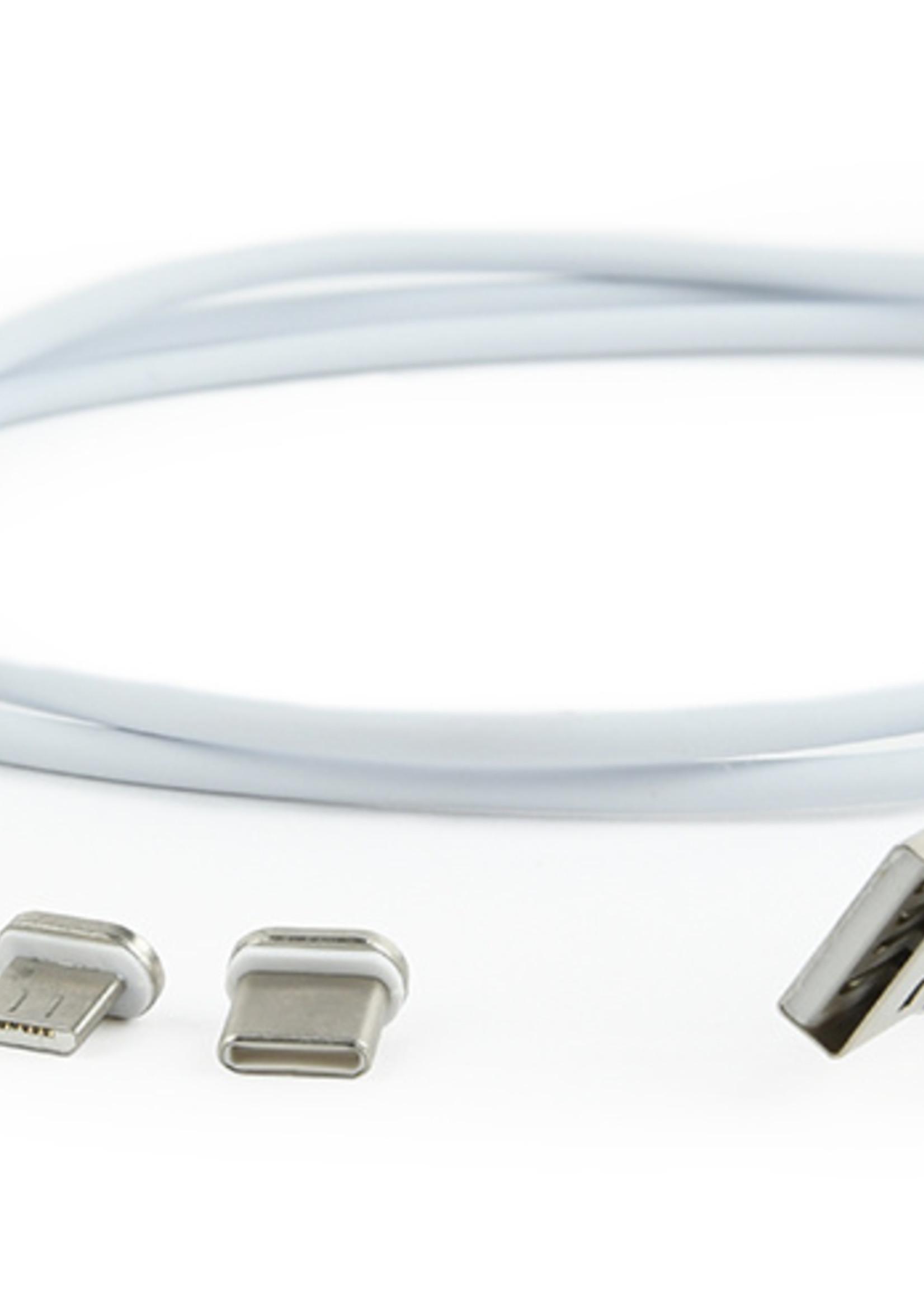 CableXpert Magnetische 3-in-1 USB oplaadkabel, 1 meter