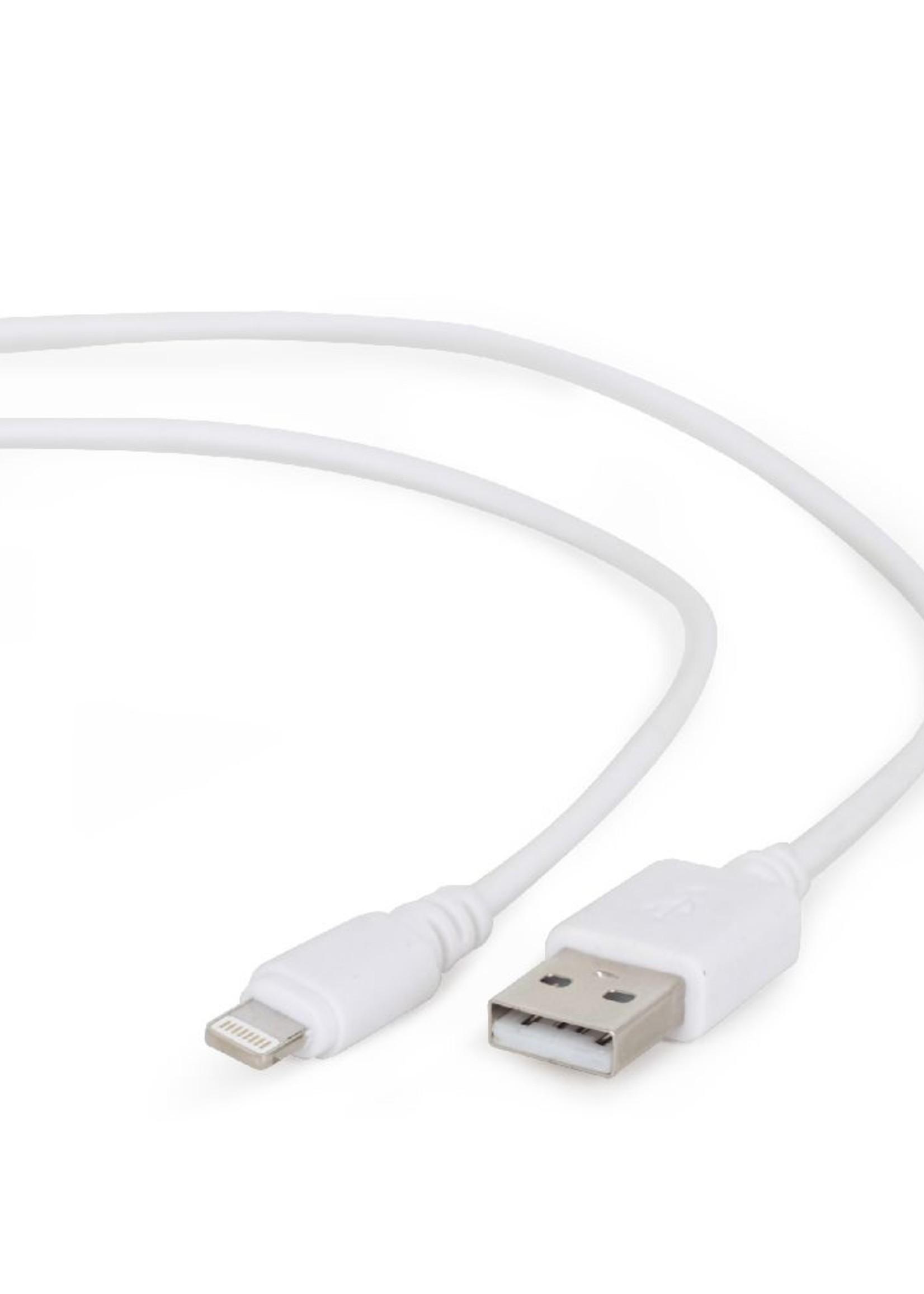 CableXpert USB oplaadkabel wit 3 meter