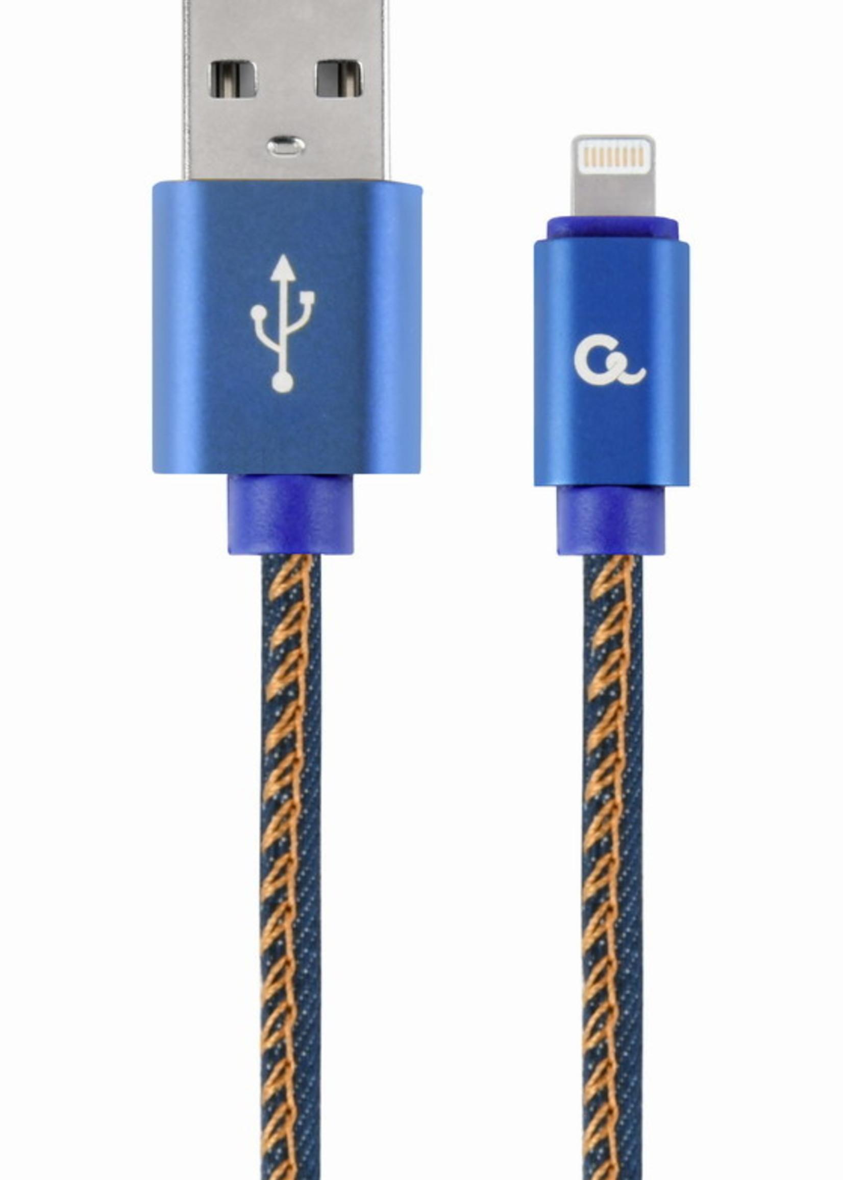 CableXpert 8-Pin kabel Denim Blue Jeans 1 meter