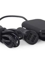 EnerGenie 4-poorts USB lader voor in de auto (voor + achter), 9.6 A, black