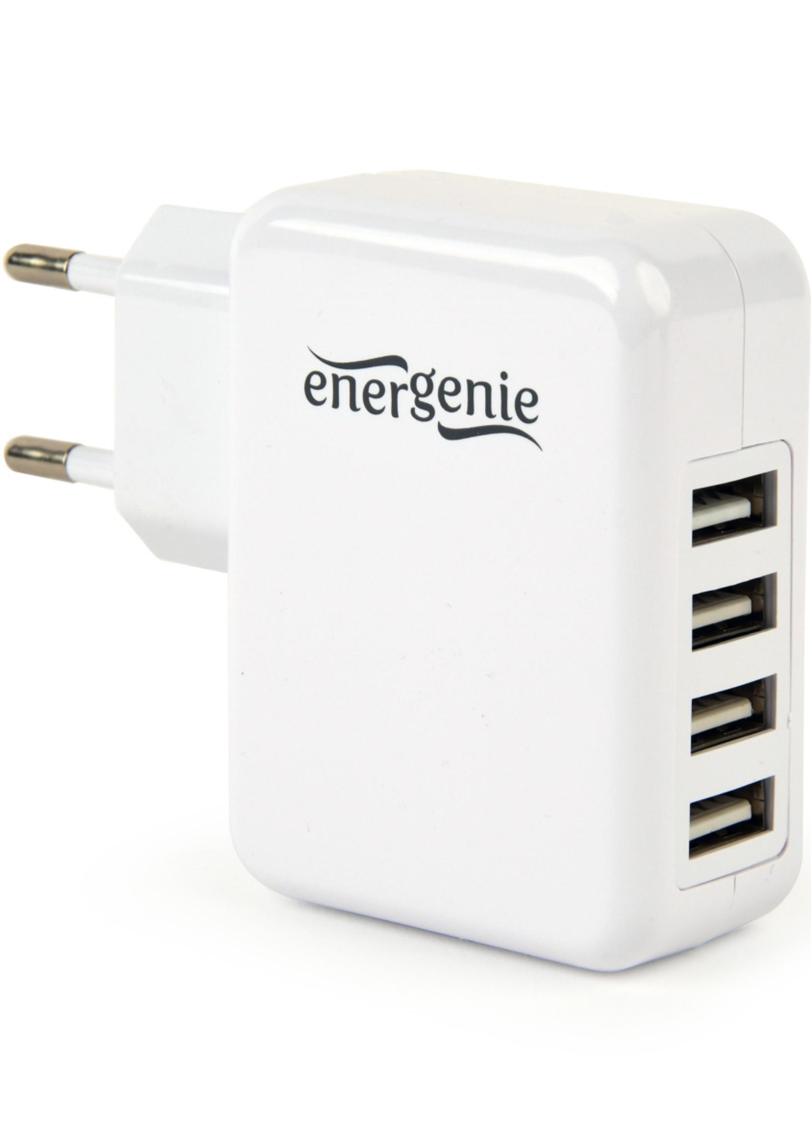 EnerGenie 4-poorts USB thuislader