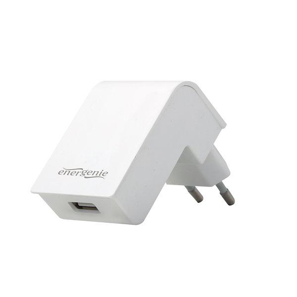EnerGenie Universele USB lader, 1X USB, 2.1A, wit