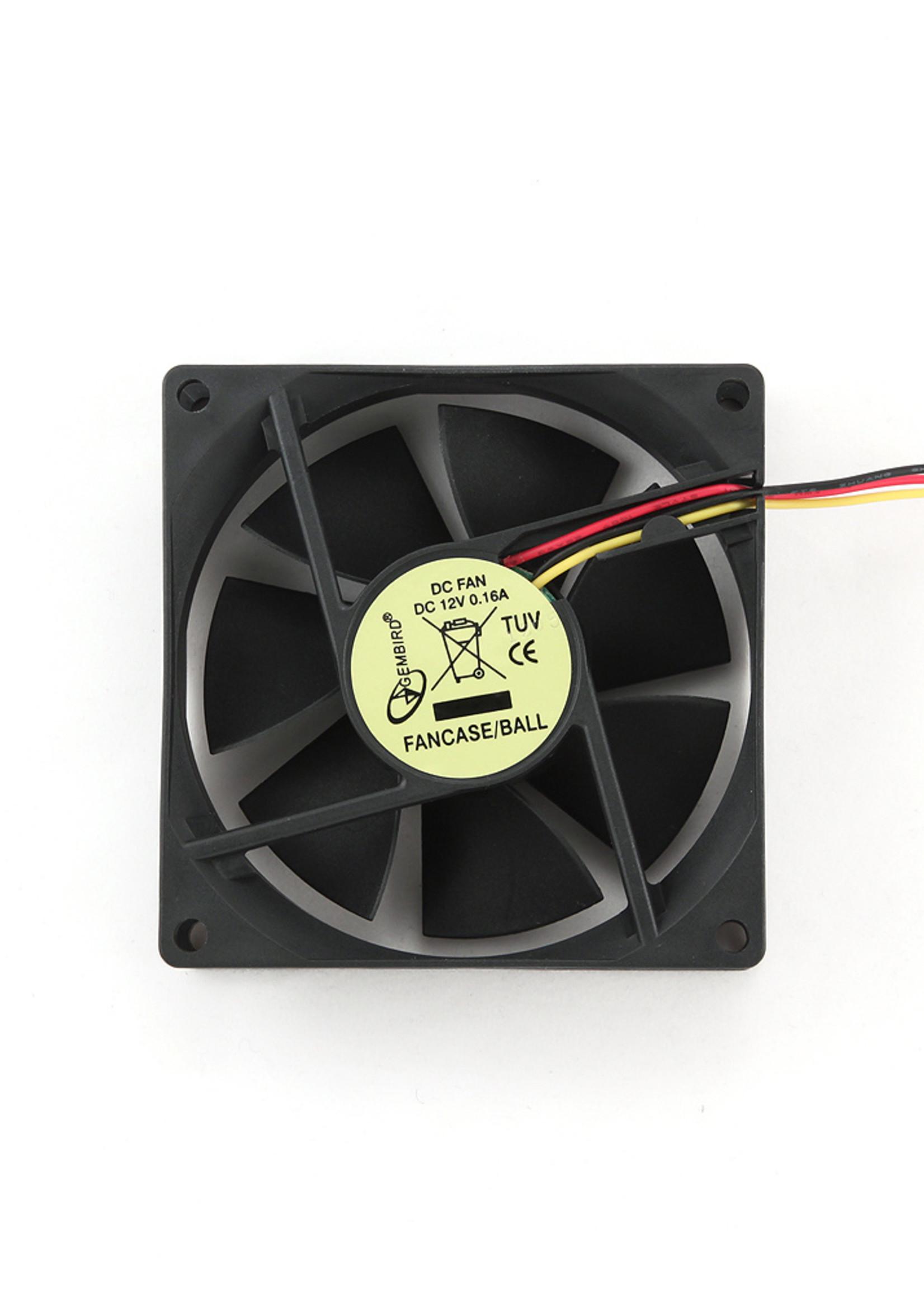 Gembird Ventilator voor PC behuizing, kogellager, 80x80x25mm