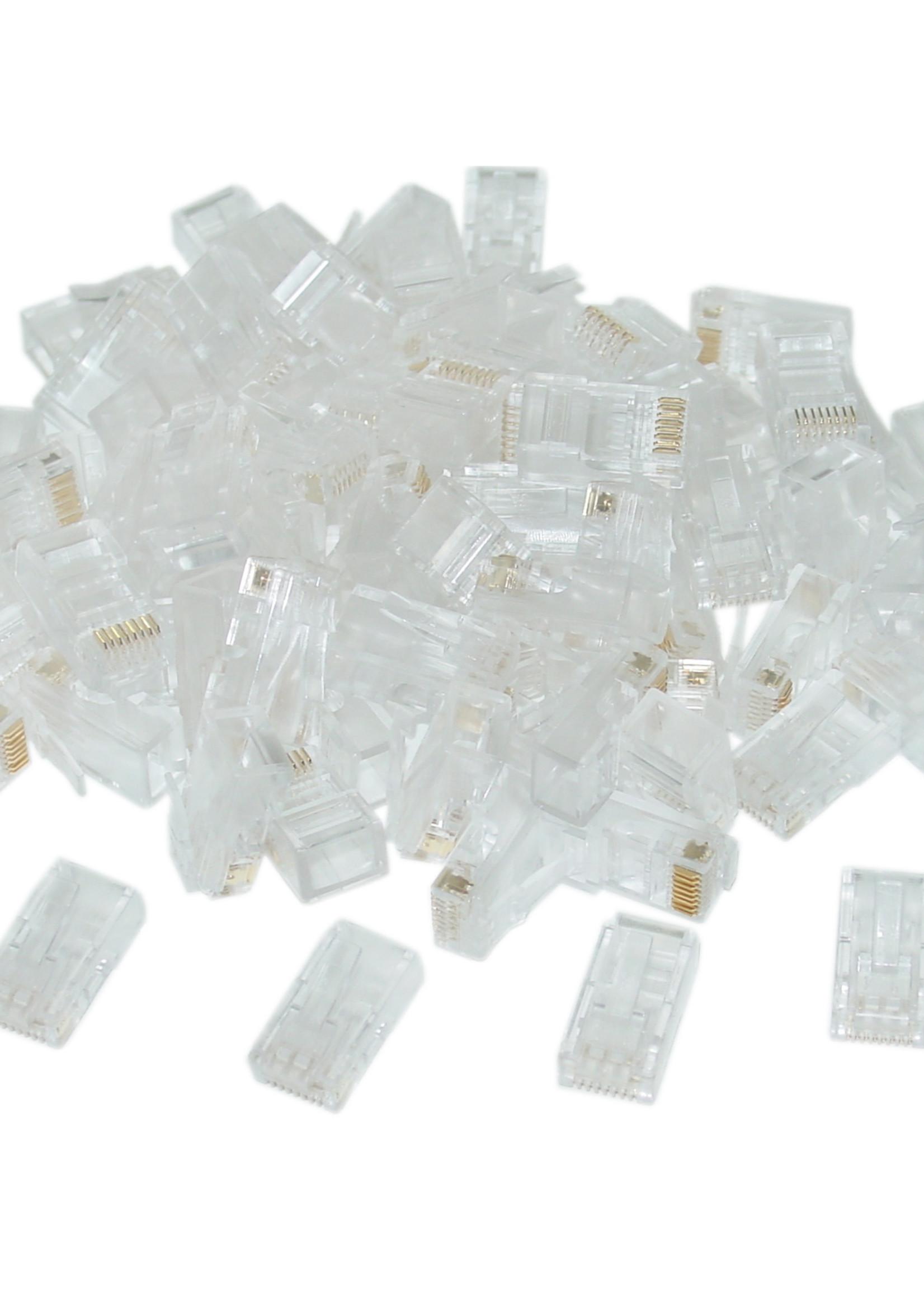 No-name UTP connector 8-pins 8P8C (RJ45) voor CAT6, 50 stuks
