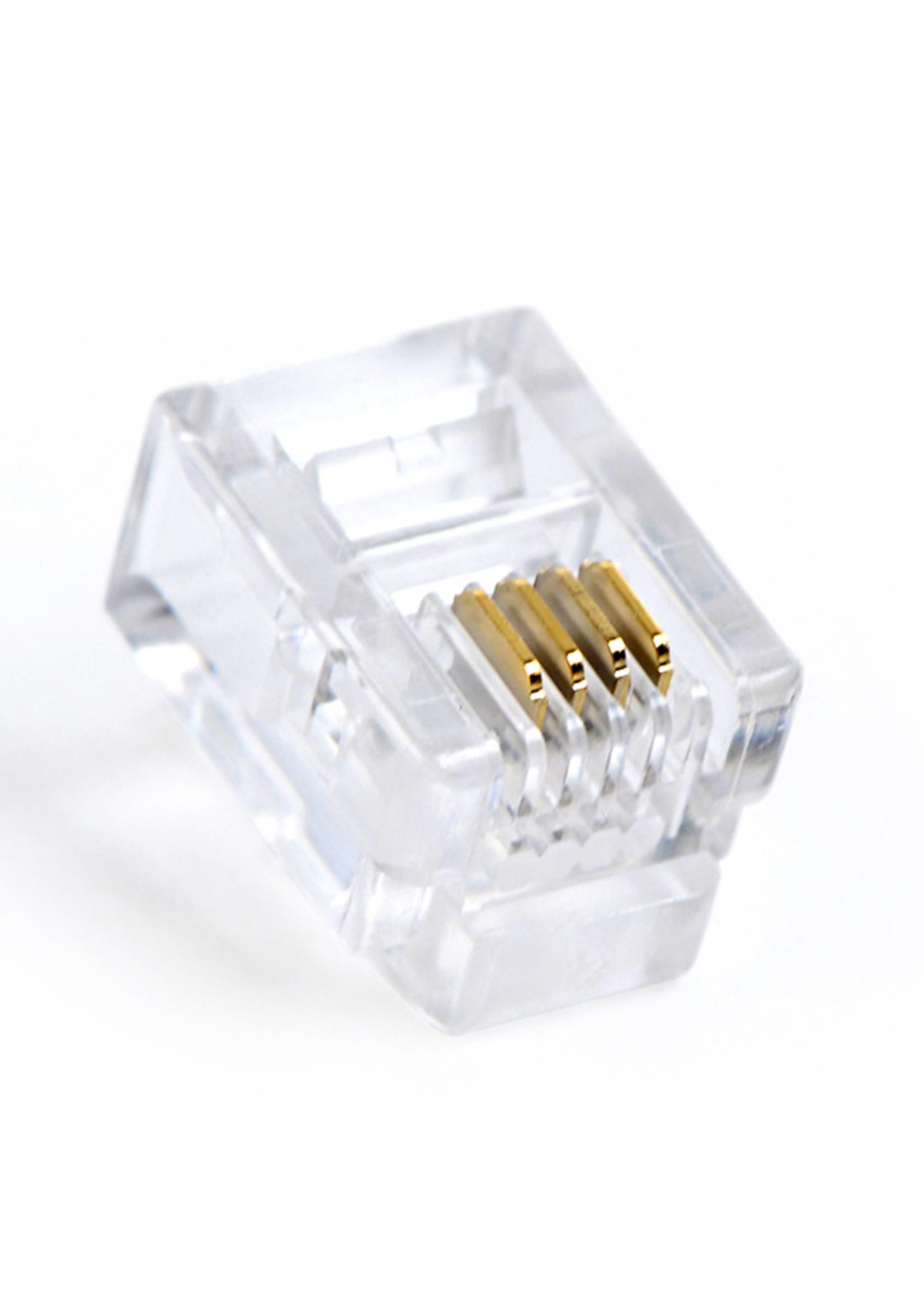 CableXpert Modulaire plug 6P4C (15u'), per 100 stuks