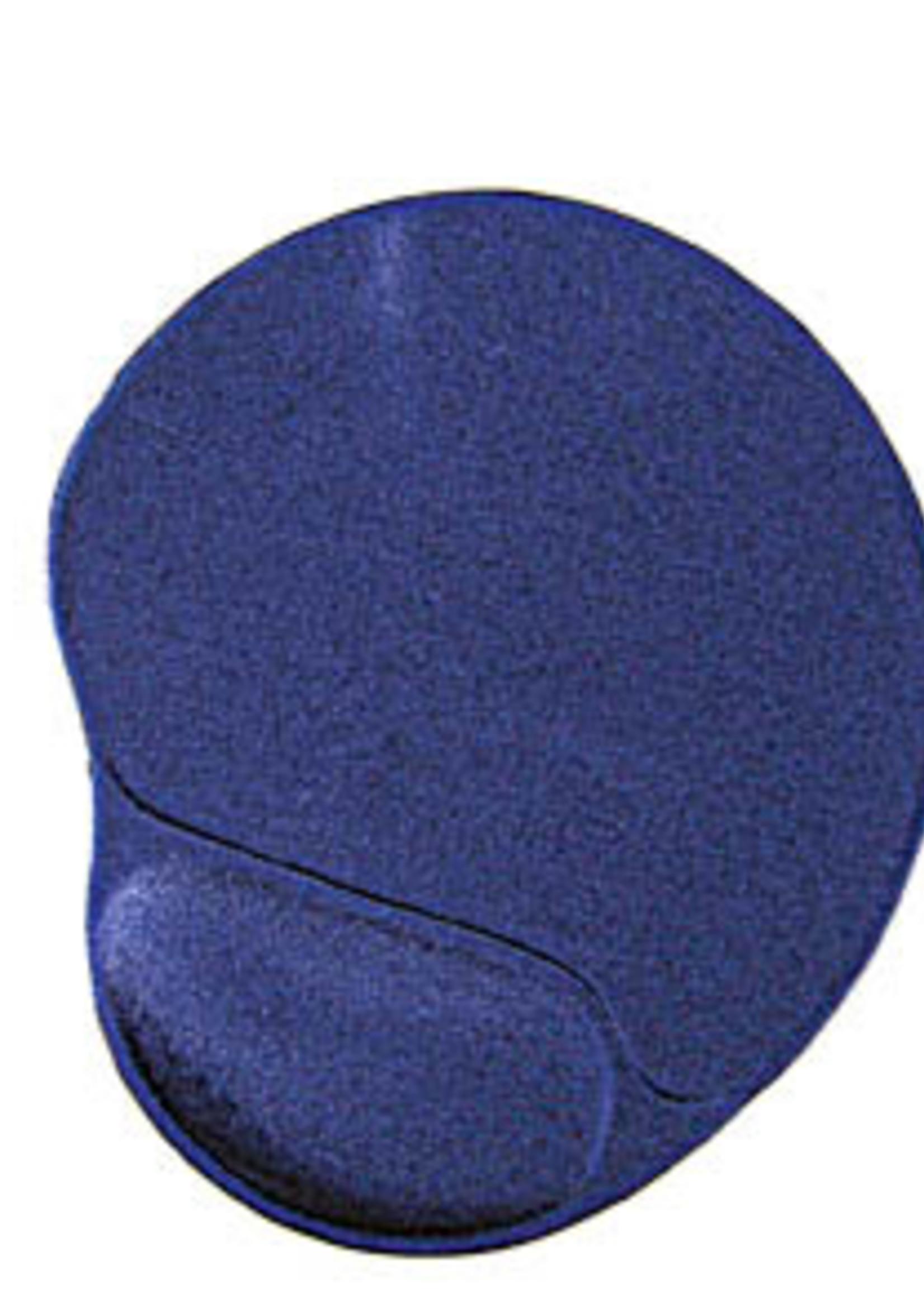 Gembird Muismat met gel polssteun, blauw