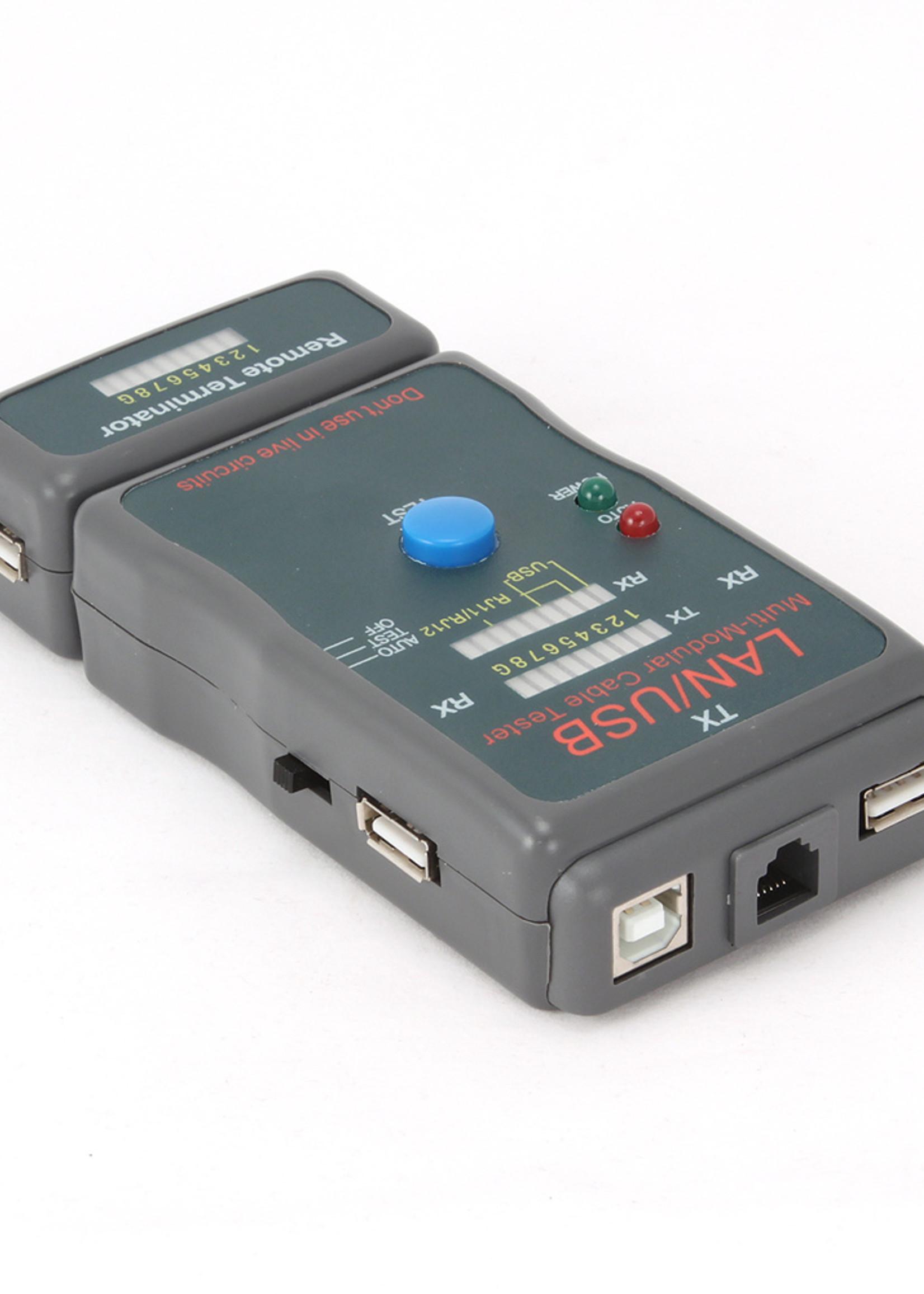 CableXpert Kabeltester voor RJ11, RJ45 & USB
