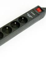EnerGenie Stekkerdoos met schakelaar, 5 voudig, FR/BE, 4.5 meter, zwart