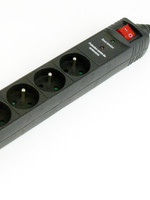 EnerGenie Stekkerdoos met schakelaar, 5 voudig, FR/BE, 1.5 meter, zwart